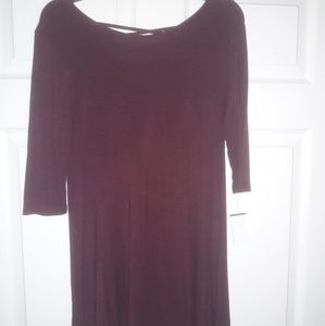NEW BURGUNDY DRESS